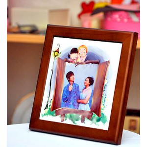 Ceramic Tile (15cm X 15cm) With Wooden Frame