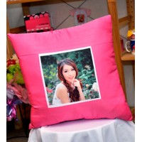 Silk Cushion + Photo & Text