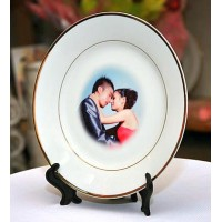 Gold Lining Plate (Diamater: 8nch or 20cm)