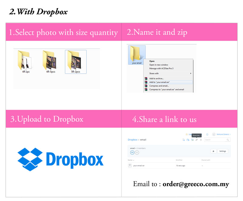 upload with dropbox